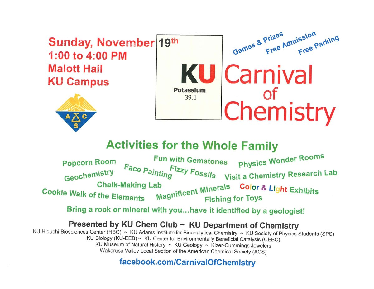 Carnival of Chemistry is this Sunday! Be sure to visit the Society of Physics Students demo room! #ScienceSunday #SundayFunday<br>http://pic.twitter.com/l9oCZGuMCz