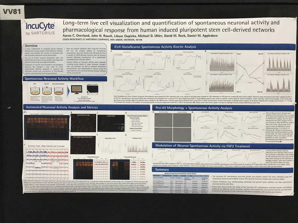 Interested in seeing iPSC-derived neuron data on Sartorius&#39; Incucyte? Poster VV81 this afternoon! @EssenBioScience #sfn17 #sfn2017 #neuro <br>http://pic.twitter.com/wcAVquBCrC