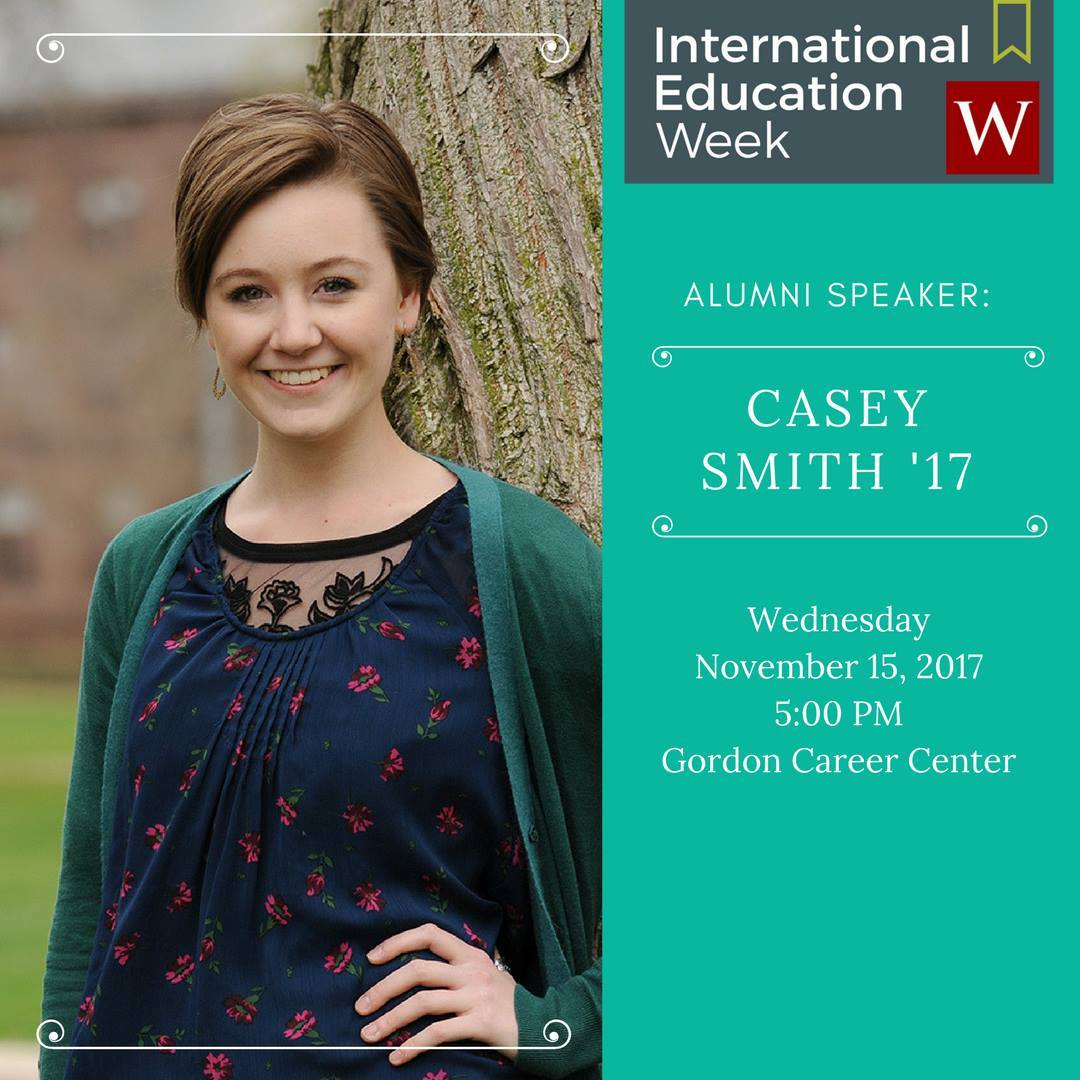 test Twitter Media - Tonight at 5pm: Refugee Rights with Casey Smith '17 in @WesCareerCenter. #IEW2017 🌎  https://t.co/dr9DV1ytbb https://t.co/UJ8dK5XawQ