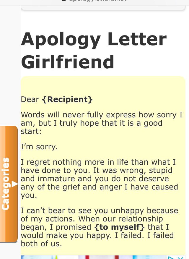 apology letter to girlfriend on quot i found a website that provides 1079