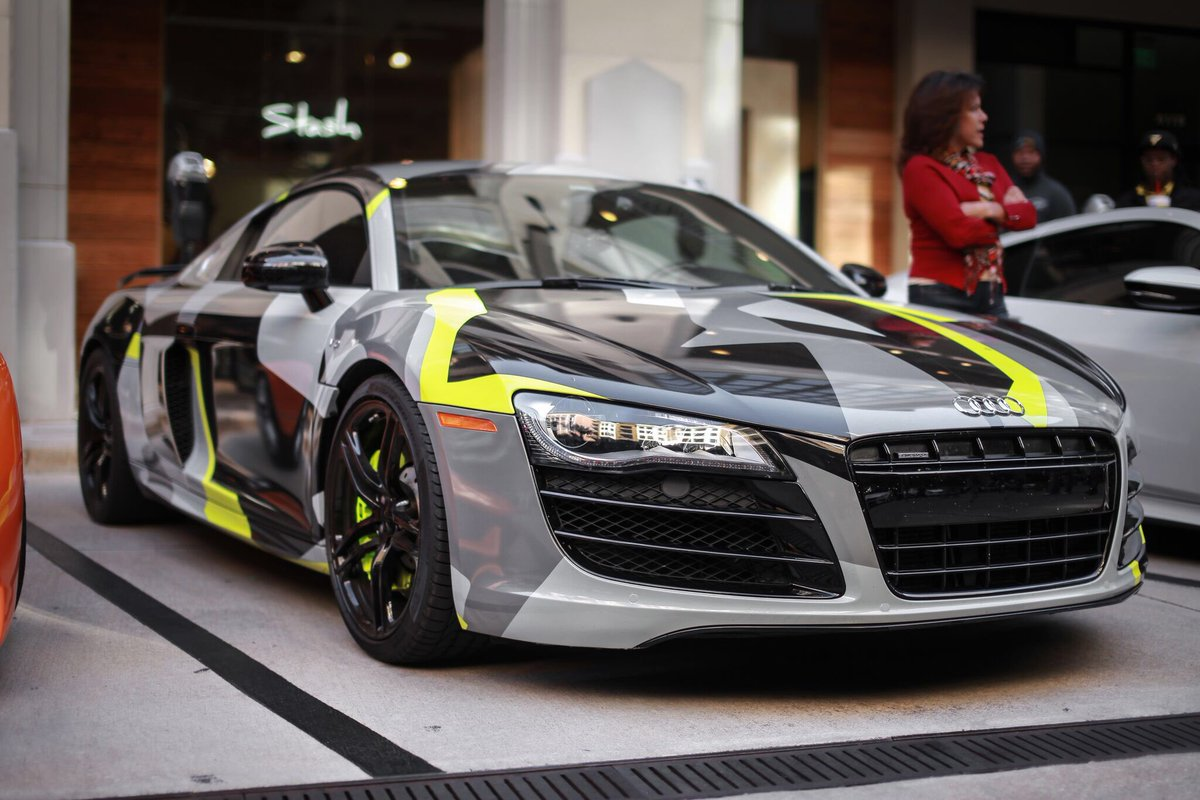 The Car Culture On Twitter Audi R8 With This Geometric Camo Wrap
