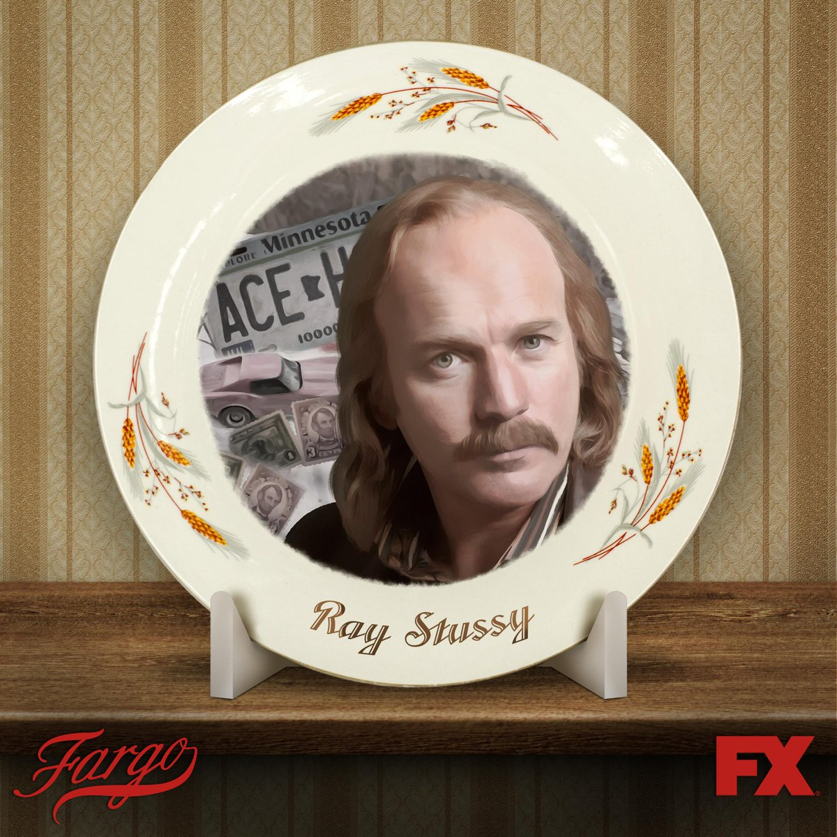 Its a vintage stamp, its got you know... sentimental value for me... Its my stamp. - Ray Stussy #Fargo