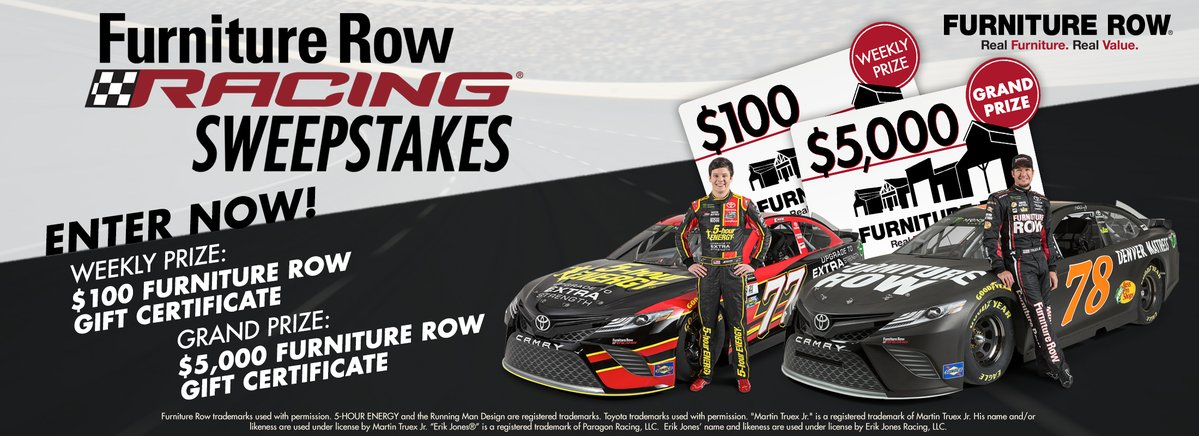Enter the @furniturerow/@9NEWS Furniture Row Racing #Sweepstakes for your chance to #win https://t.co/gj5TMKXMUq