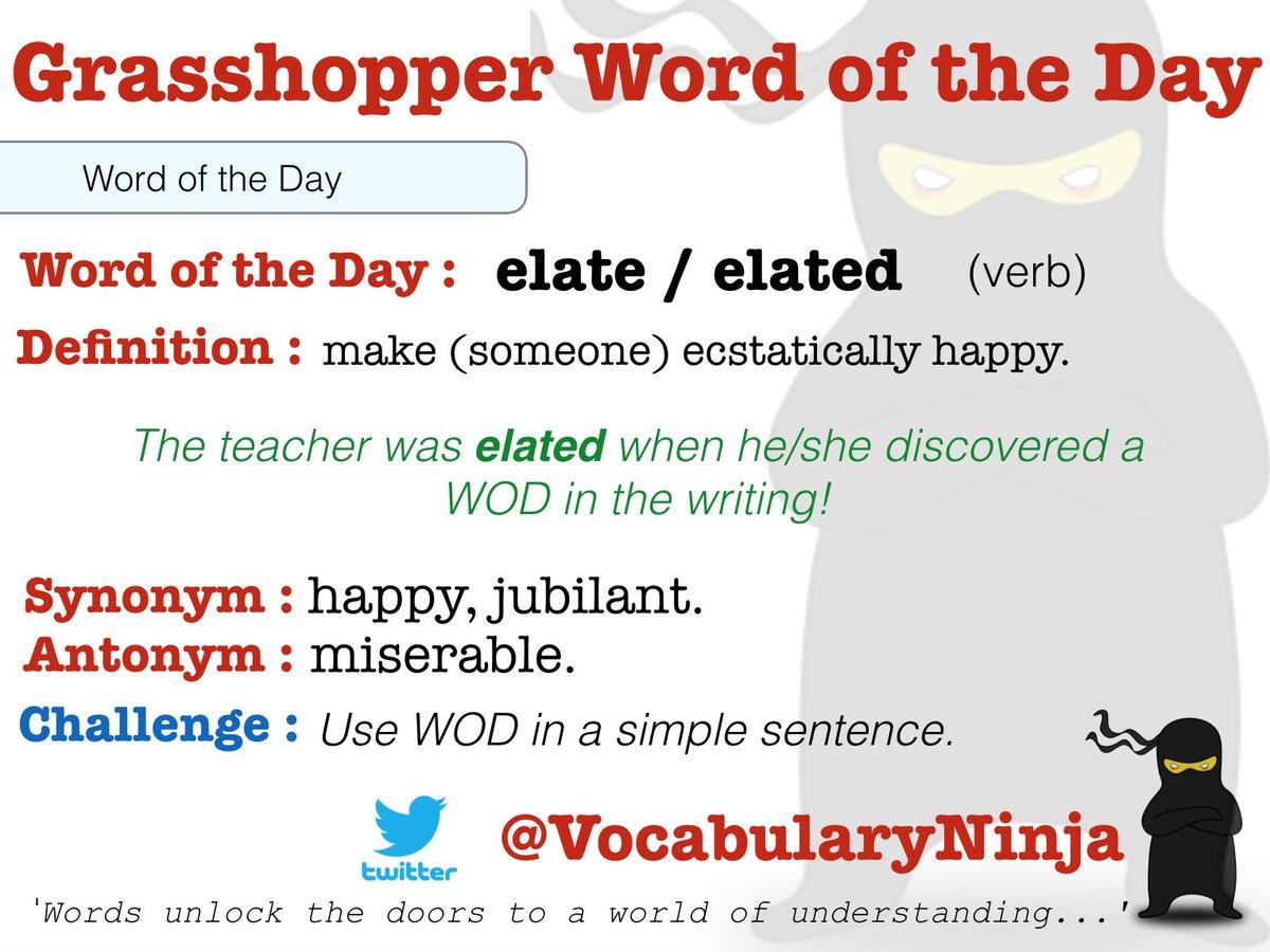 Vocabulary Ninja On Twitter Dumbfounded And Elated Thursday S