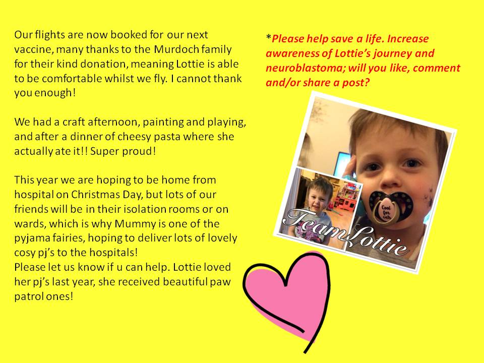 Hello everyone Today&#39;s been quite a positive day. Lottie slept well and was happy to go in to nursery..... #teamlottie #cancersucks #pyjamafairies #neuroblastoma Please like and RT  <br>http://pic.twitter.com/hhnGAr69Cx