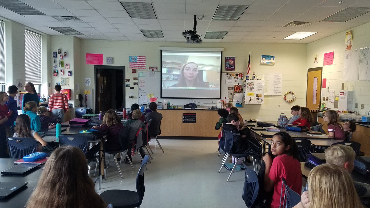 5th Odd 6th gr @RMS_CBG chats with Dr. @EggErin about aquatic microbiology, ecosystems, and her favorite color. #robioUS #oneccps #skypeascientist @scienceCCPS @ccps_gifted<br>http://pic.twitter.com/bD2M7S0twL