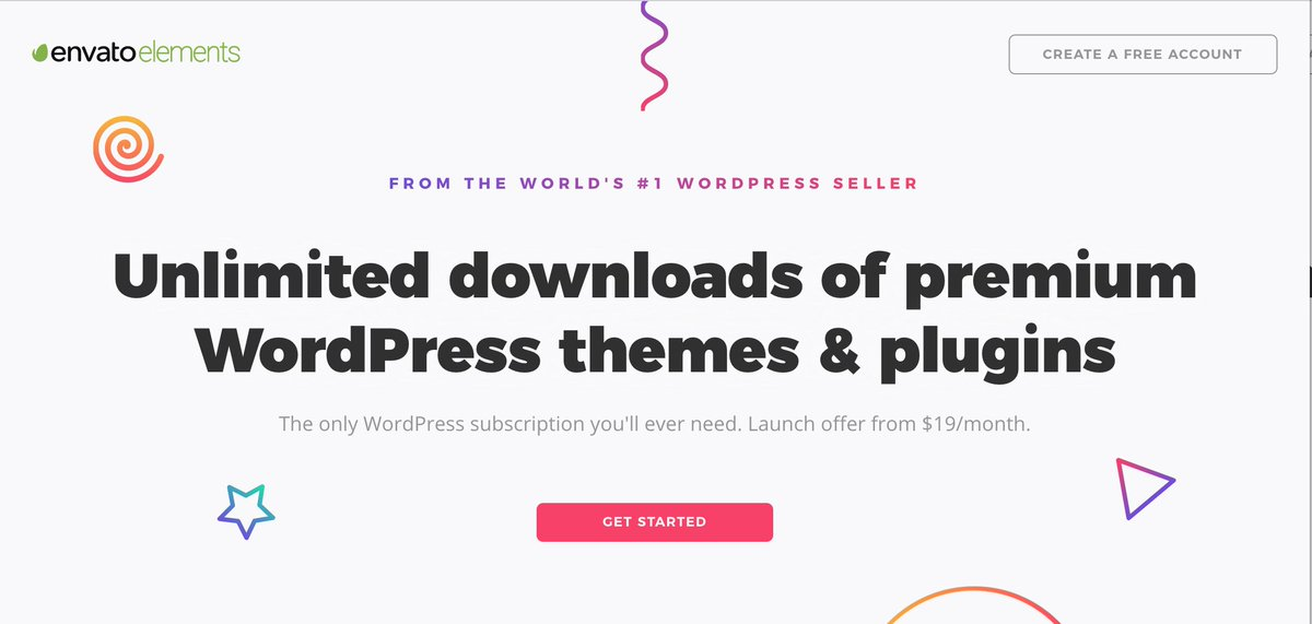 Collis On Twitter And Here S Our New Envato Elements WordPress Landing Page Https T Co Wgqyxmcef1