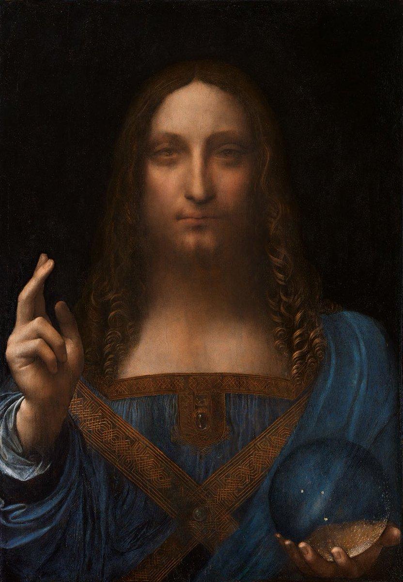 'Salvator Mundi', tableau de Léonard de Vinci, vendu aux enchères à New York, 450,3 millions de dollars. C'est la toile la plus chère du monde !