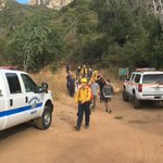 Great job to our Search and Rescue Team, Santa Barbara County Fire, American Medical Response paramedics and our Santa Barbara County Sheriff/Fire Air Support team for helping to rescue an injured hiker this morning on Tunnel Trail.