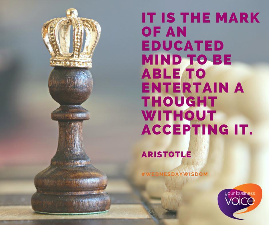 #WednesdayWisdom from Aristotle!  #YBV #YorkshireBiz <br>http://pic.twitter.com/N50lvFprfS