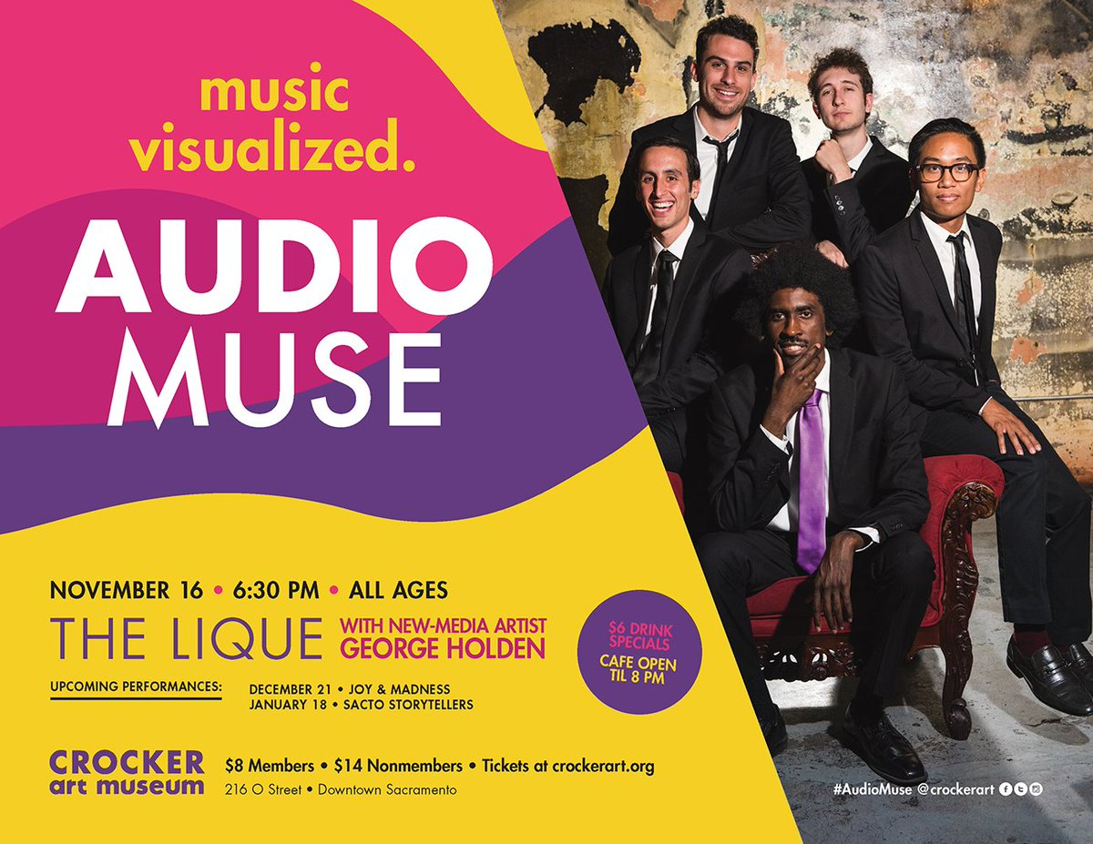 TOMORROW, it&#39;s the newest nightlife event in #Sacramento: #AudioMuse! Our inaugural concert on 11/16 features @theliqueband! Details:  http:// inauguralbit.ly/AudioMuse  &nbsp;    #Sacramento #DowntownSac #Sac #Sato #Sactwon #LiveMusic #Dancing<br>http://pic.twitter.com/QQPBTq3jWE
