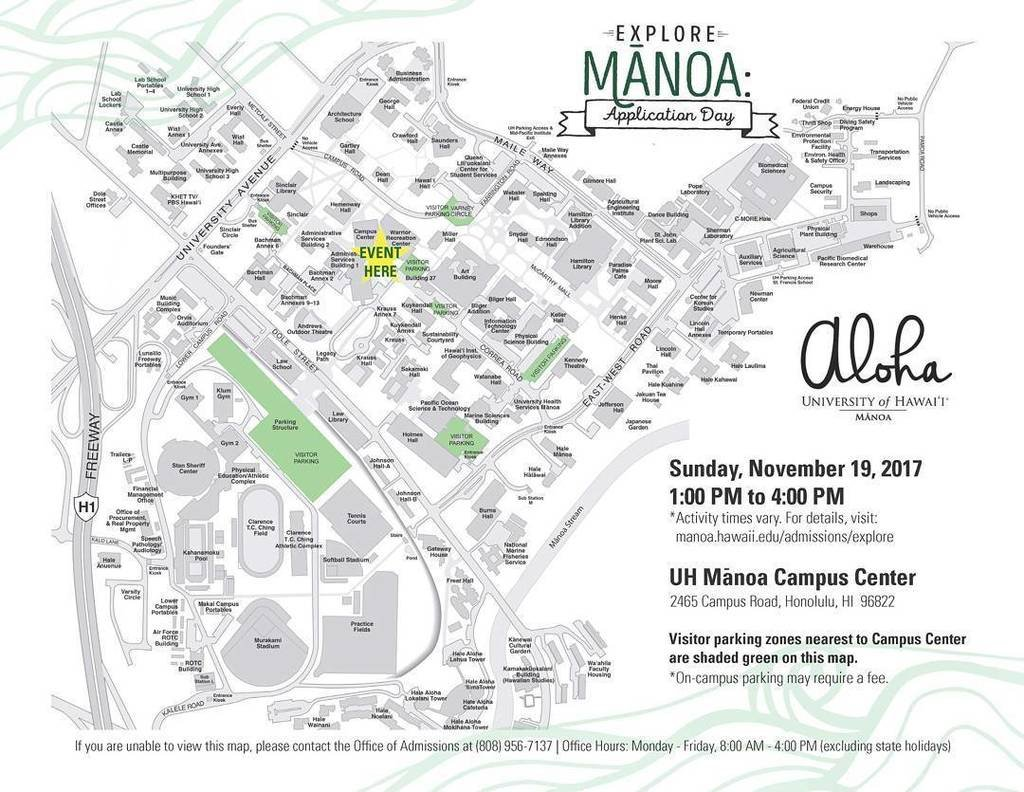 Visit Http://manoa.hawaii.edu/admissions/events/ U2026 For The Schedule, What  To Bring, And Parking Details.