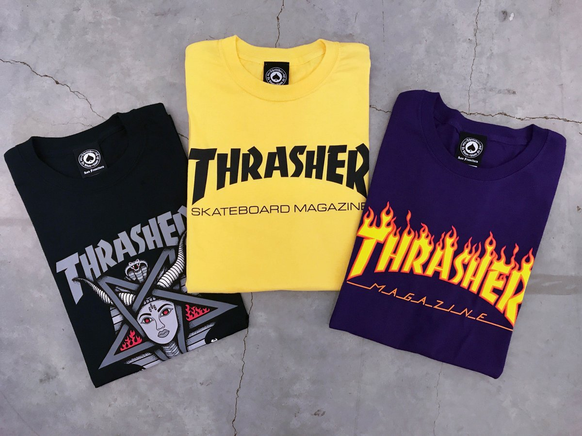 New Thrasher Tees are out now >> https://t.co/Nr6EYsjWyN