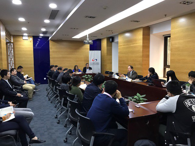 My brother Mark speaking yesterday at the Shanghai Institute for International Studies (SIIS). We were there with our brother Ian 37 years ago when our father took us to China.