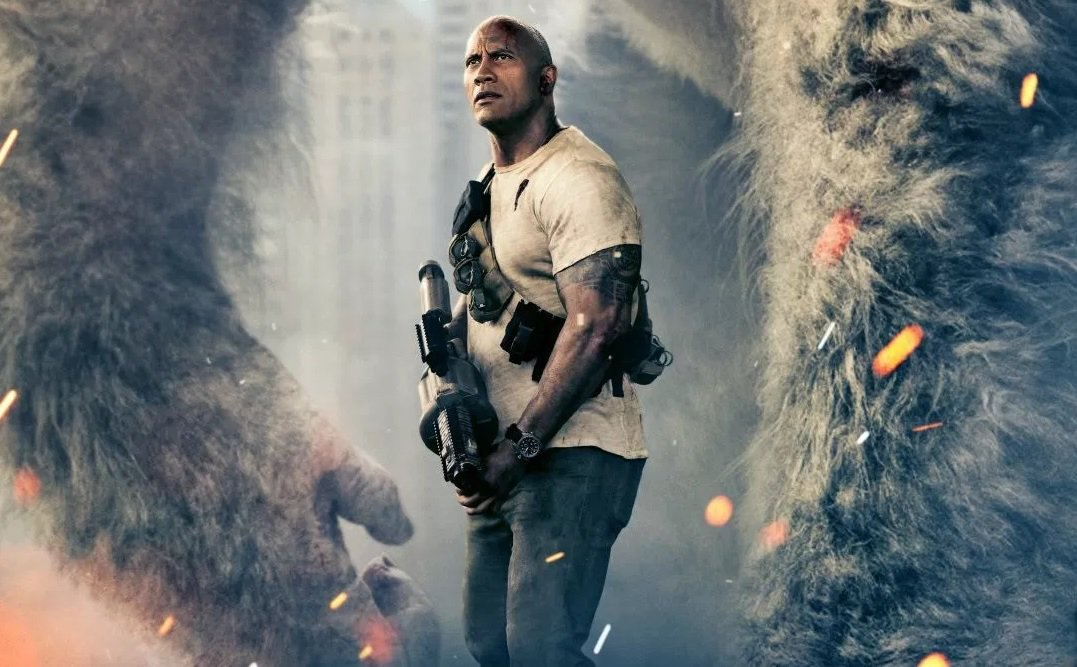 Massive Beast Joins The Rock on Official 'Rampage' Poster Ahead of Trailer Premiere: https://t.co/5xzQxGYcbV https://t.co/iz8IRtjjhO