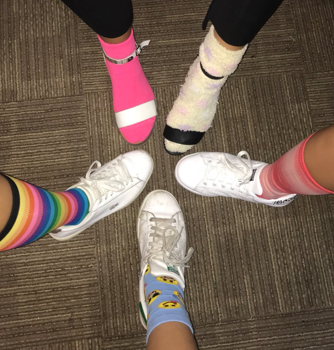 It's ODD SOCK DAY today! We are all DIFFERENT and all EQUAL!!!!!! #AntiBullyingWeek2017 #TakeAStand #LendAHand #GISLearning<br>http://pic.twitter.com/FqrYibDCmq
