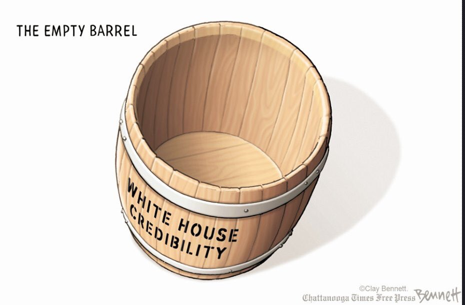 The Empty Barrel: White House Credibility  #SarahHuckabeeSanders #SeanSpicer #JohnKelly #StephenMiller<br>http://pic.twitter.com/LnXWS8WHbe