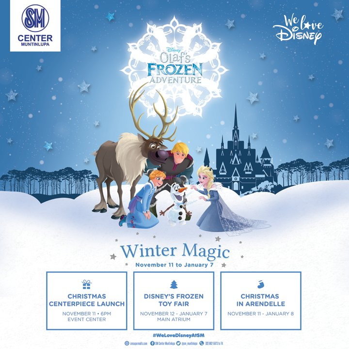 The gates of Arendelle has just opened for all! Come and join OLAF as he unravel his Frozen Adventure!   #MerrySMChristmas2017 #WeLoveDisneyAtSM #SouthSnippets https://t.co/vxavJUYnoK