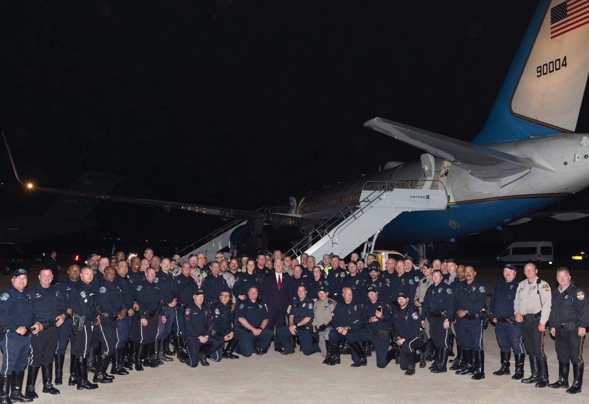 RT @VP: Grateful to the brave men & women of Texas law enforcement for everything you do! https://t.co/I0mXrFVZaJ