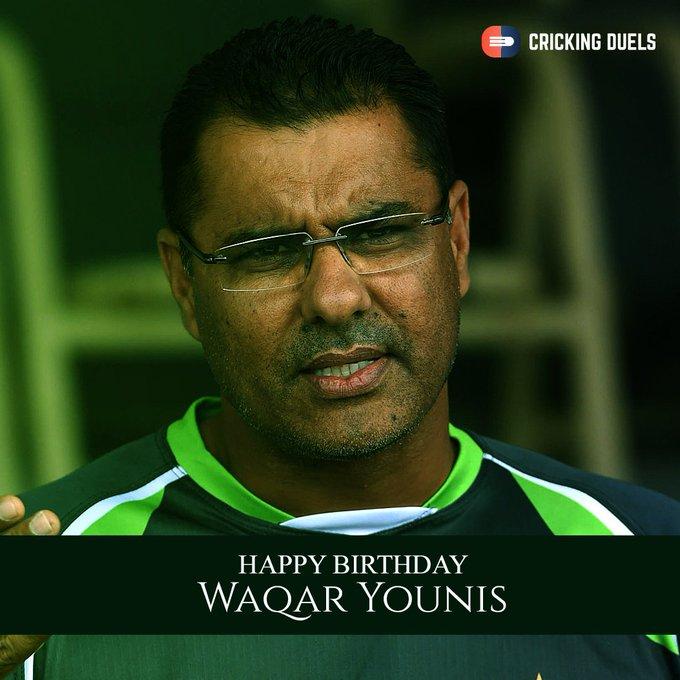 Happy birthday, Waqar Younis.