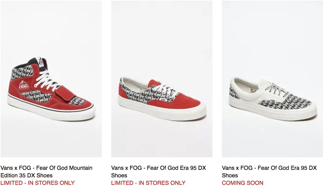 b362284c88 Vans x Fear of God Collection dropping on Friday