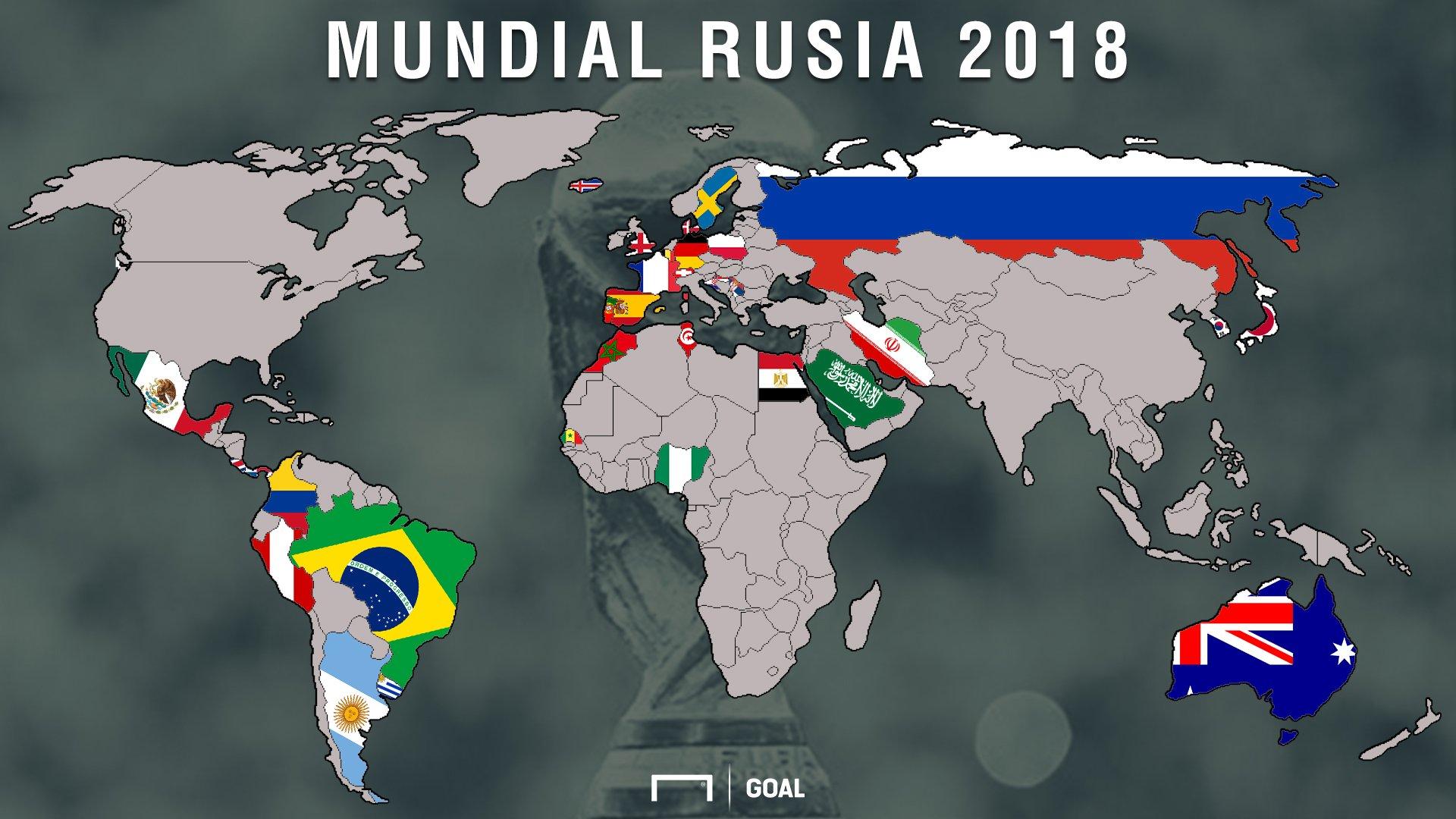 "Goal en español on Twitter: ""El mapa del Mundial Rusia ..."
