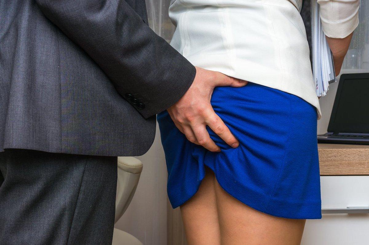 Man touching naked woman ass 8