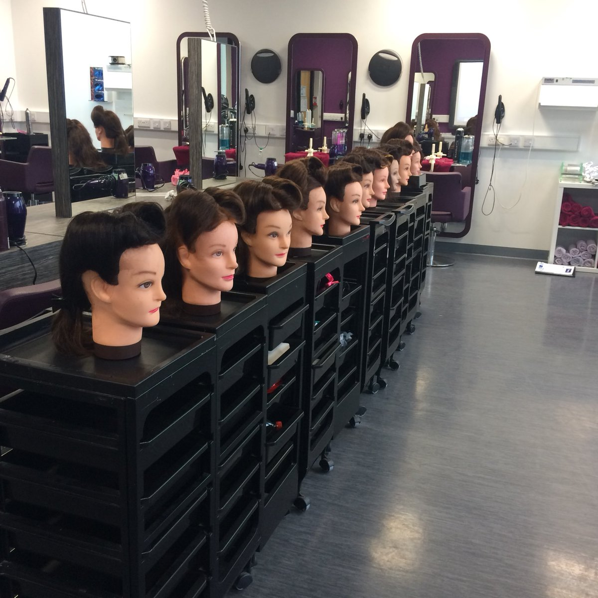 Victory roll line up #practise #technicals #hair @NCCHairBeauty @NelsonColneColl<br>http://pic.twitter.com/KaOLJwb2WT