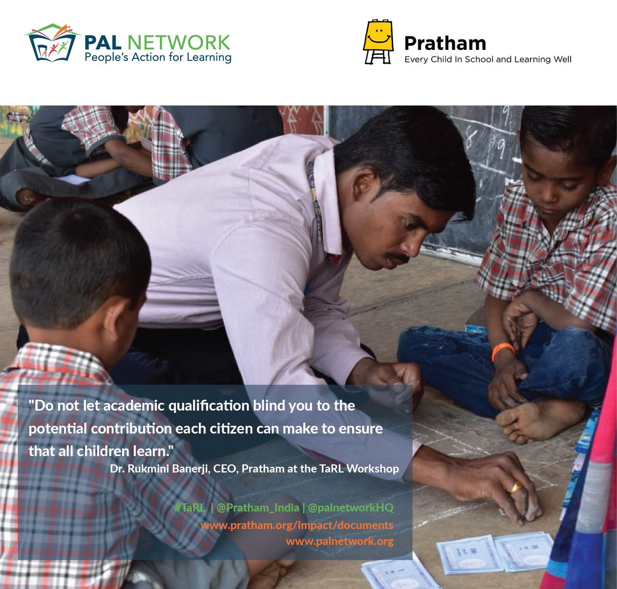 In @Pratham_India #TaRL program, regardless of #age or #grade, the starting point for instruction is where the #child is right now:  http:// bit.ly/2icNwEp  &nbsp;  <br>http://pic.twitter.com/gDtjvulXbk