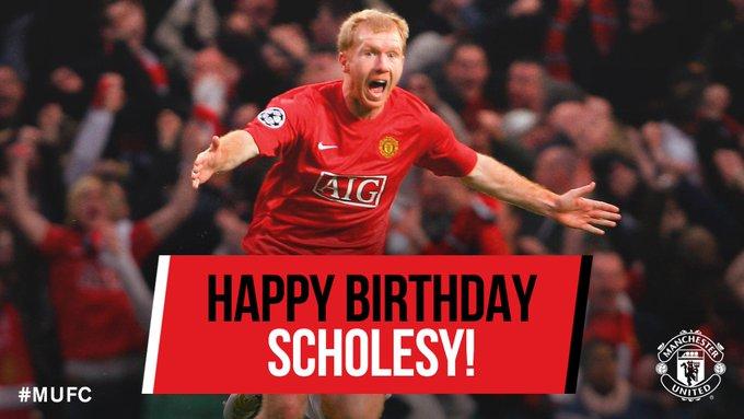 Happy 43rd Birthday Paul Scholes!