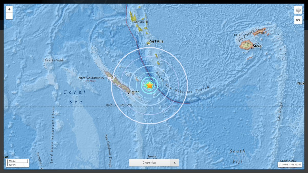 Very strong #earthquake (#séisme) Mww=5.9 - 62 KM East of #Tadine, #NewCaledonia, #France. Depth: 10 KM. More info at:  https:// on.doi.gov/2hyGqdf  &nbsp;    &lt;. #EQVT. <br>http://pic.twitter.com/B8toZCpjIi