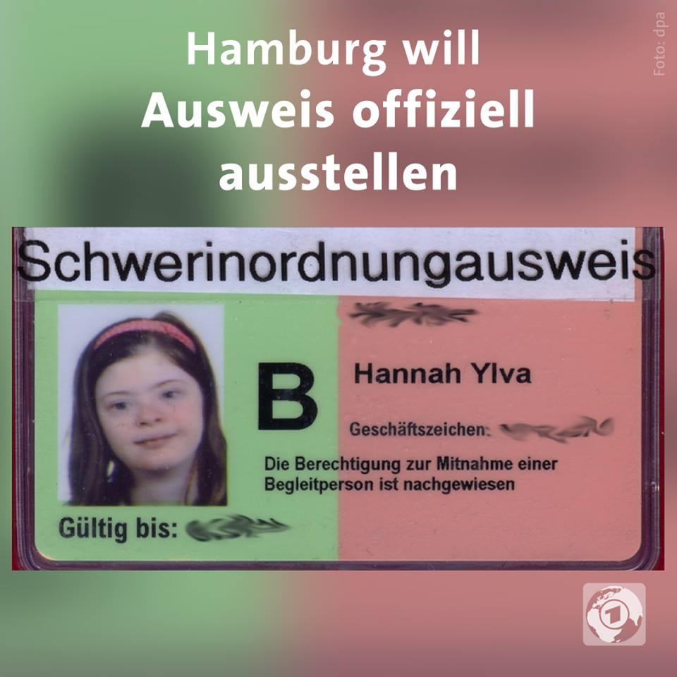 Hamburger Behörder stellt Schwer-in-Ordnung-Ausweis aus