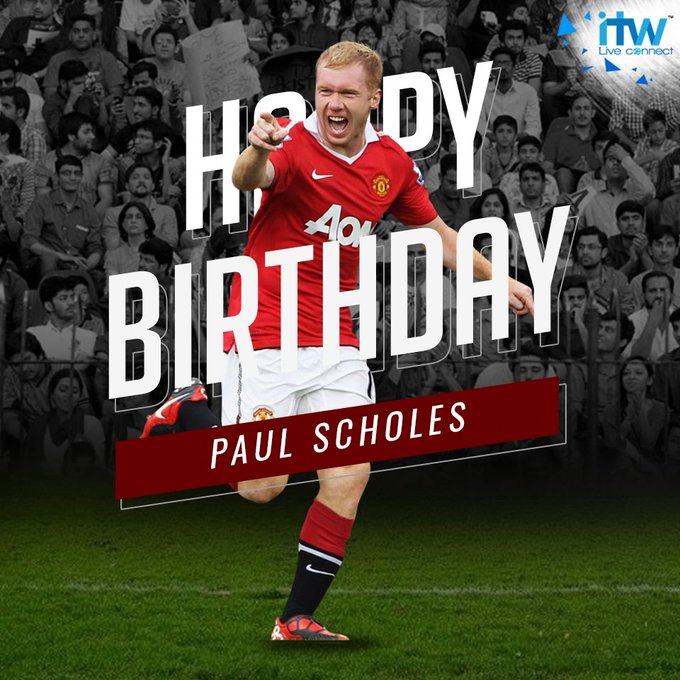 Happy Birthday to the legend and former player, Paul Scholes
