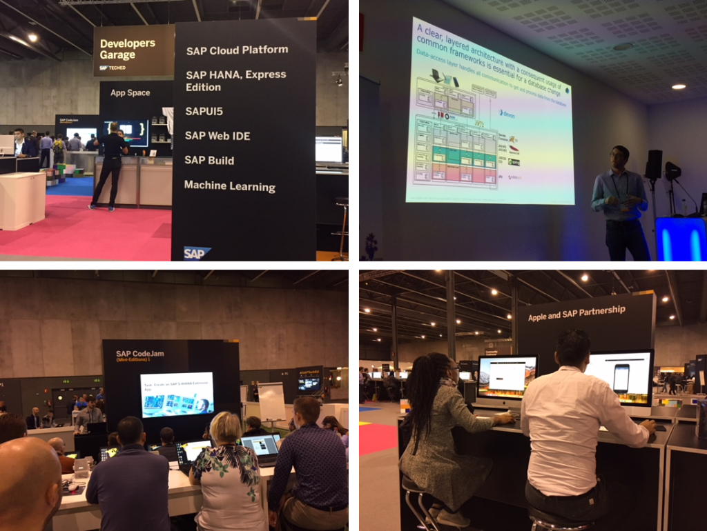 Don&#39;t miss your chance to learn hands on about #SAPHANA, #ML, #UI and #iOS at the App Space in the Developers Garage at #SAPTechEd Barcelona! Ck out the Innovation Talks, the SAP CodeJam mini-editions and the innovative demos w some of our partners.  http:// spr.ly/6015DB2dN  &nbsp;  <br>http://pic.twitter.com/NQMwQvGjnM
