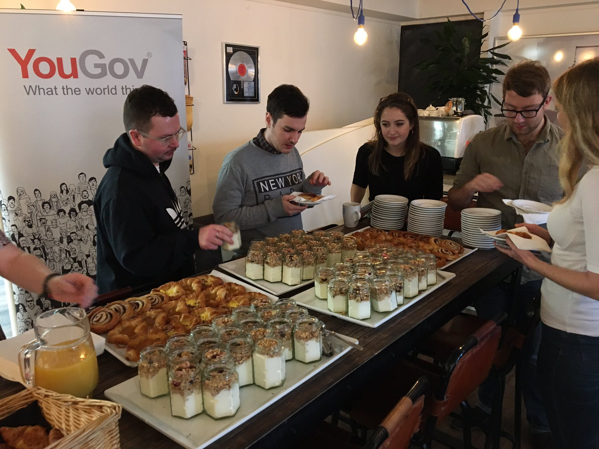Breakfast is served #YouGovTakeover 🥐☕️ https://t.co/qKXfC19UWX