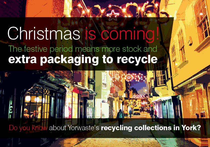 Are you stuck with more packaging than you can dispose of this Christmas period? Please email our advisers on customerservices@yorwaste.co.uk for details on our recycling collections. #Yorlocal #Yorwaste #Card #Recycle #York #Christmas<br>http://pic.twitter.com/NdwrTZCduX
