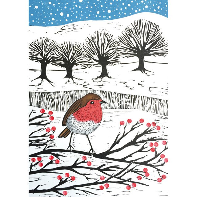 New Greeting Card! &#39;Robin and Field of Snow&#39; by Printmaker @janedignum  https://www. greenpebble.co.uk/products/jd1-1 0-17-robin-and-field-of-snow &nbsp; …  #availableonline #freeukdelivery #greetingcards <br>http://pic.twitter.com/IzzrBqrqo4