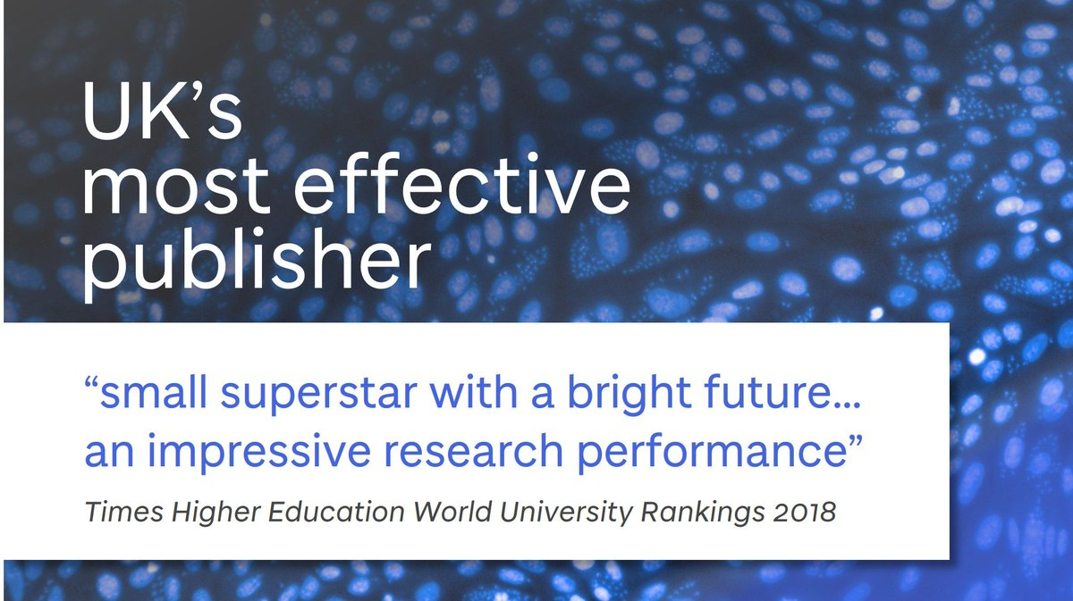 &quot;an impressive research performance&quot; - #dundeeuni is the UK&#39;s most effective publisher @THEworldunirank  http:// uod.ac.uk/2mb1Wdl  &nbsp;  <br>http://pic.twitter.com/5WWUNxVv2d
