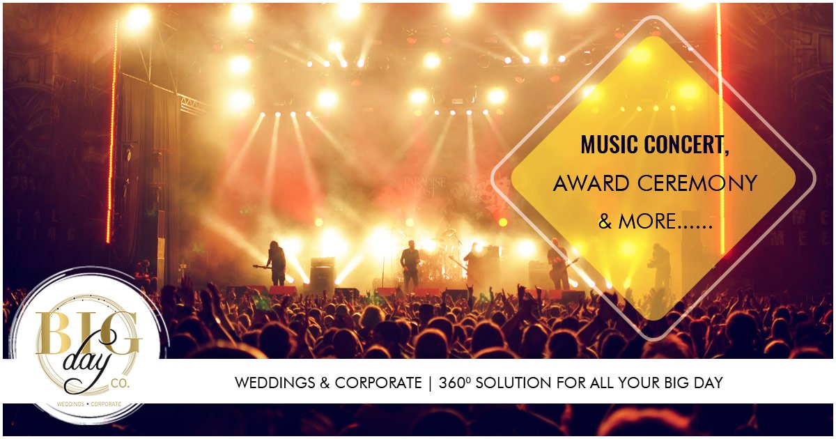 From Rocking Music Concert to glamourous Award Ceremony, BigDayCo provides you 360° solution for the BIG DAY!!! Call us at 022-28900519 | 9821728283 | 9920939596 | 9920624499 | 9821999381 #BigDayCo #EventOrganiser #EventManagment #RakshaHospitality #AnujDecorators #AwardCeremony<br>http://pic.twitter.com/nfYdDxsKVe