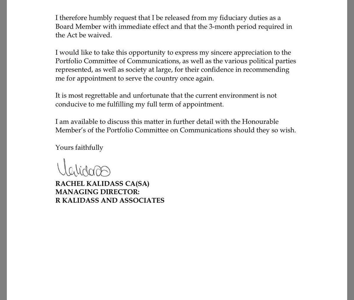 Phumzile van damme on twitter rachel kalidass has resigned from 156 am 16 nov 2017 aljukfo Images