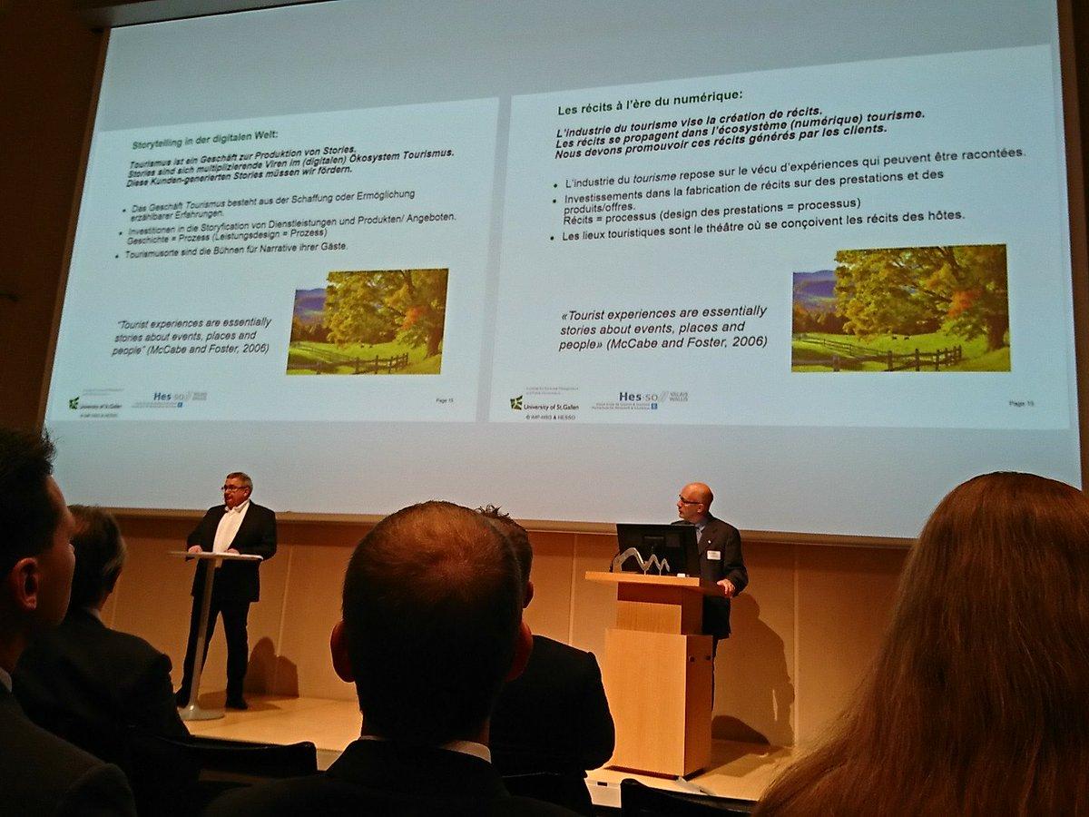 Das Kerngeschäft im Tourismus: die Ermöglichung von erzählbaren Geschichten. #TourismusForum @RolandSchegg #digitalisierung #tourismus