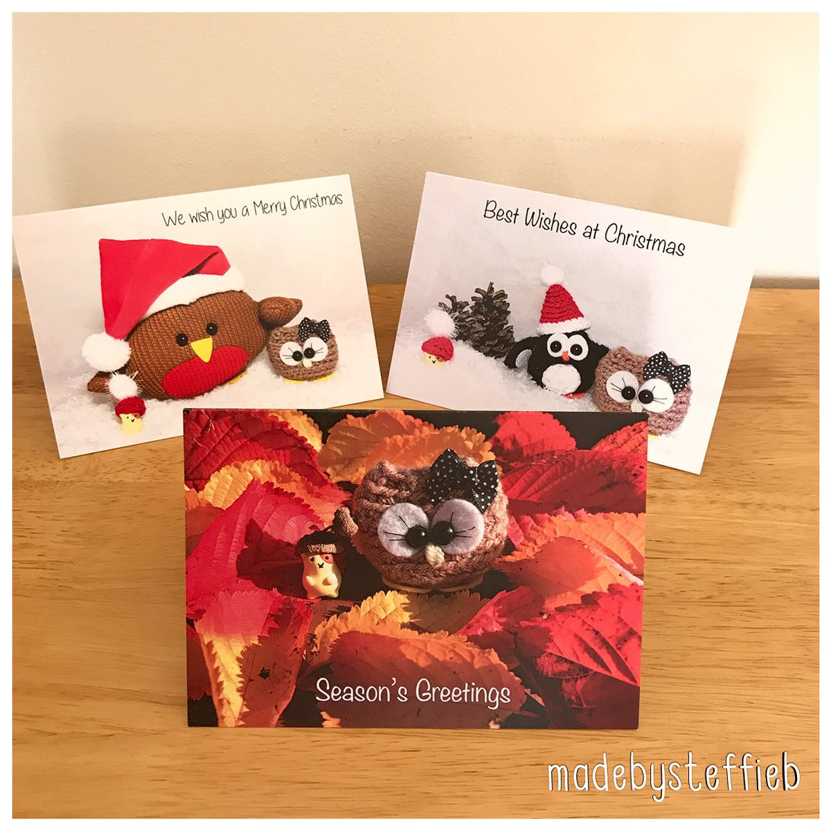 Our pack of 3 #cards are just £5  one of each design per pack!  pop in   http:// tinyurl.com/ybvhry6a  &nbsp;      #thursday #christmascards #handmade #eshopsuk #Promo #offer #ChristmasIsComing #Christmas #shophandmade #ukbiz #greetingcards #owl #penguin #hamster #cuteanimals<br>http://pic.twitter.com/1vN49iBA1k