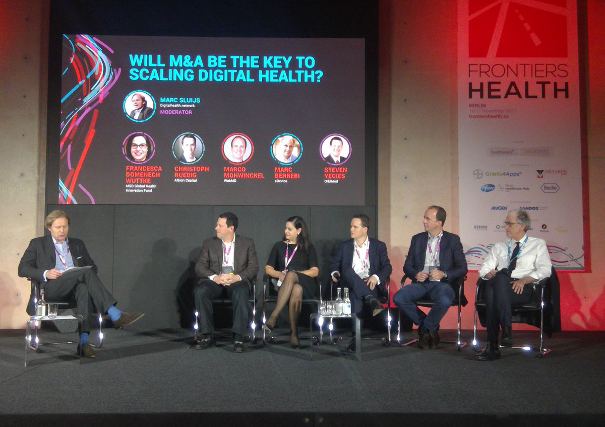 #DigitalHealth businesses need to scale and #m&amp;a is the leverage. Outstanding panel for an insightful roundtable #FH17 @frontiershealth<br>http://pic.twitter.com/AsivbemAHU