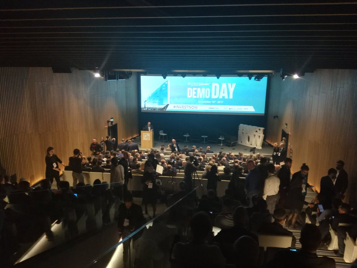 Demo Day presentation is starting now. All startups will soon be pitching their solutions. Good luck to @ruleat_app @Revotree_agtech @fitlunch_it @Powahome @TogetherPrice and @InTimeLink, our travel buddies in @EnLabs&#39;s acceleration program #investnow <br>http://pic.twitter.com/2il4UQralg