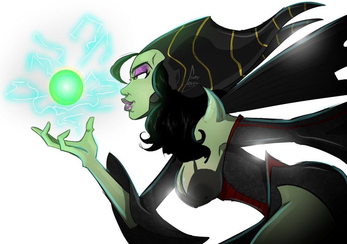 Shy Green No Twitter Maleficent Pinup Sketch Art