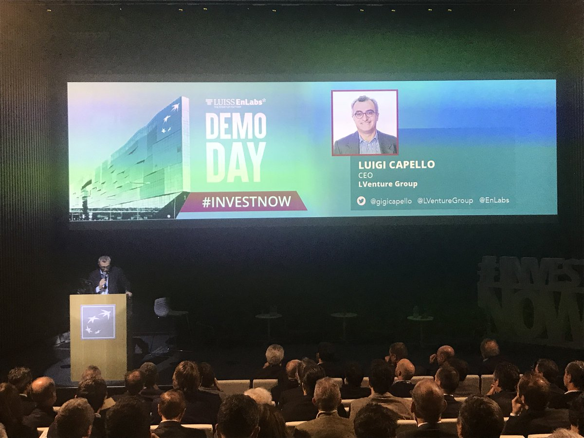 Now on stage @LVentureGroup CEO @gigicapello presenting #LUISSENLABS one of the largest #Startup Accelerators in Europe #investnow <br>http://pic.twitter.com/mD3MnrABm8