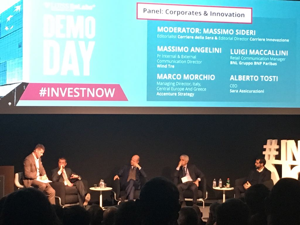 @MorchioMarco on the role of @Accentureitalia as a bridge in the #openinnovation ecosystem  #investnow <br>http://pic.twitter.com/0Wm3Qcil69