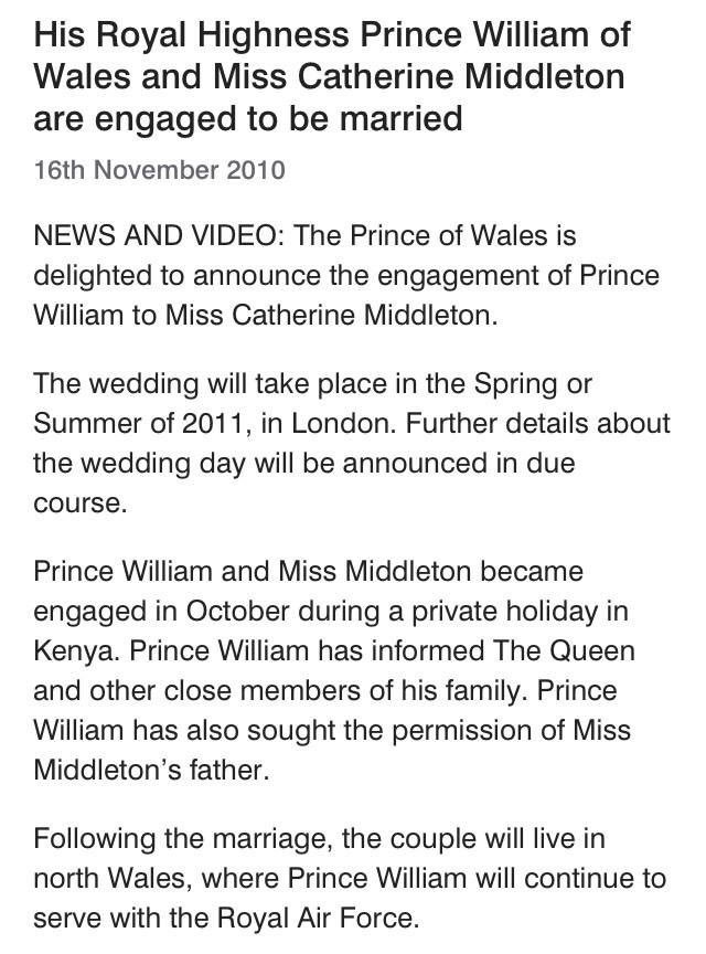 Seven years ago...#RoyalEngagement https...