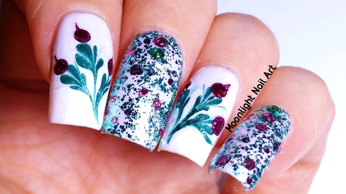 Moonlight Nail Art On Twitter Floral Dry Drag Marble Nail Design Tutorial In Green Purple Https T Co Lnoi6tmytl Via Youtube Manicure Nails Nailart Https T Co R5jn0a3plq