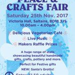 Just over a week till our big fundraiser @VicHallSaltaire . If you're in West Yorkshire, it's definitely a great day out, and a lovely ethical place to get in some early festive shopping.